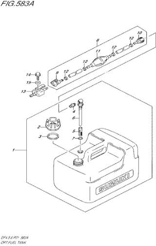 бензобак - опция Сузуки DF4-5-6 лс