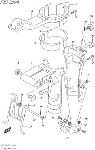 поворотный кронштейн Сузуки DF4-5-6 лс