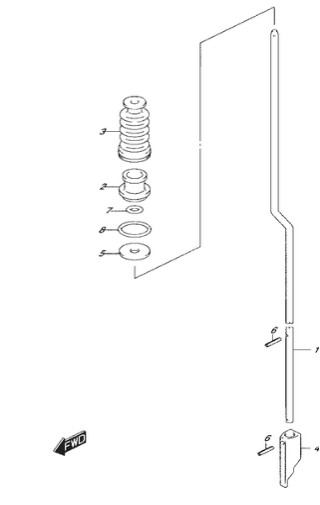 тяга переключения Сузуки DF4-5-6 лс