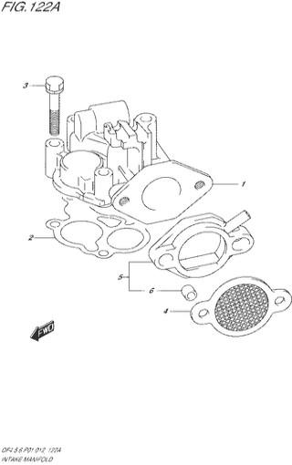 впускной коллектор Сузуки DF4-5-6 л.с.