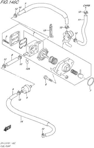 топливный насос Сузуки DF4-5-6 лс