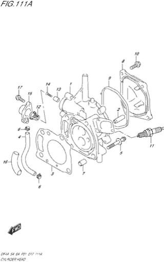 головка цилиндра для Сузуки DF4a-5a-6a л.с