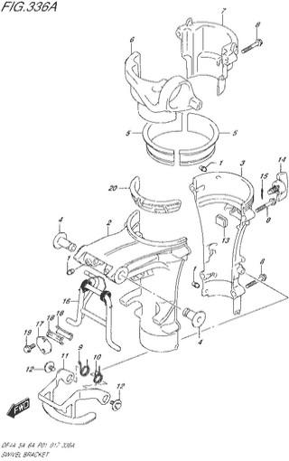 поворотный кронштейн топливная система для Сузуки DF4a-5a-6a л.с