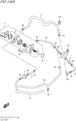 топливная система  для Сузуки DF4a-5a-6a л.с