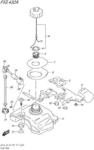 топливный бак топливная система для Сузуки DF4a-5a-6a л.с