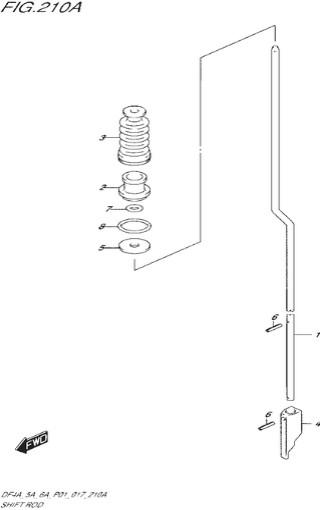 тяга переключения топливная система для Сузуки DF4a-5a-6a л.с