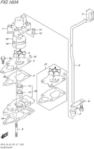 водяной насос топливная система для Сузуки DF4a-5a-6a л.с