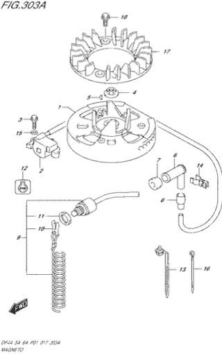 система зажигания топливная система для Сузуки DF4a-5a-6a л.с