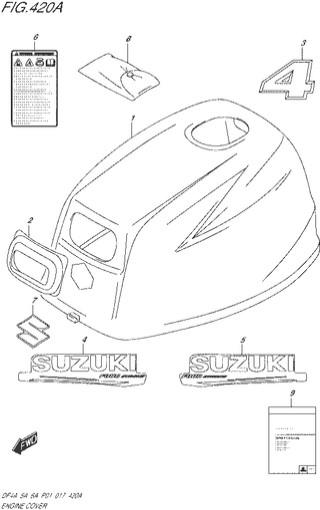 колпак двигателя топливная система для Сузуки DF4a-5a-6a л.с