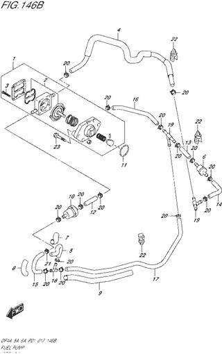 топливная система для Сузуки DF5a-6a л.с