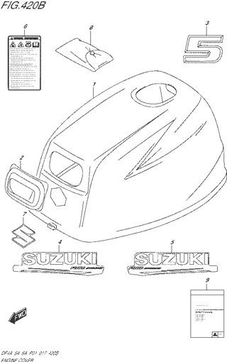 колпак двигателя топливная система для Сузуки DF5 л.с