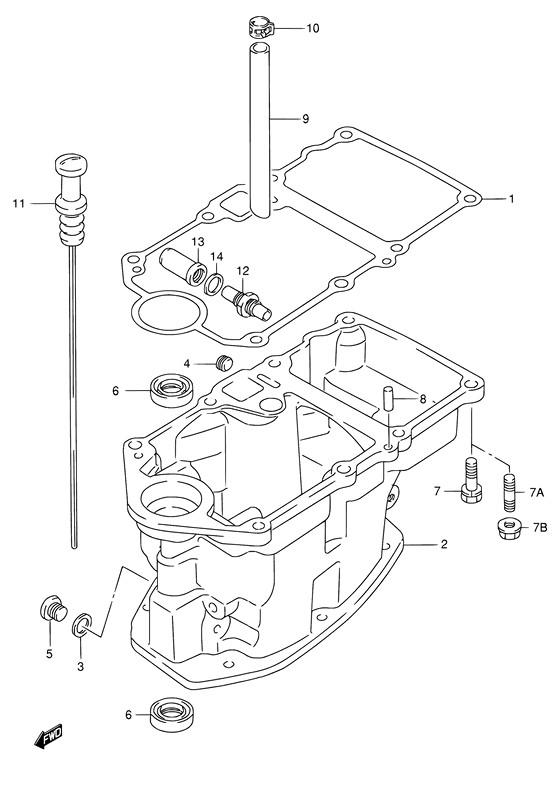 Каталог запчастей для лодочных моторов Suzuki DF15 (S/L); Год 2011;  (Регион: Е40; P01)