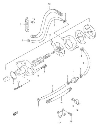 Каталог запчастей для лодочных моторов Suzuki DF9.9 / DF15 (S/L); Год 2003;  (Регион: Е40; P01)
