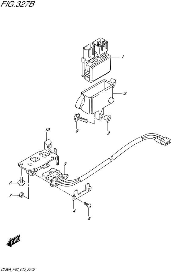 PTT переключатель DF9.9BTН / BE / BR / BT , Год: от 2013 - до 2015; Двигатель от: 00995F-310001~ до 00995F-510001~ / (4-х тактный; Мощность 9.9)