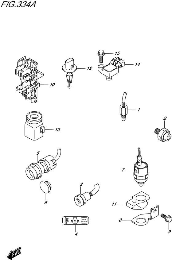 Датчики / переключатели DF9.9B / BE / BR / BT , Год: от 2013 - до 2015; Двигатель от: 00995F-310001~ до 00995F-510001~ / (4-х тактный; Мощность 9.9)