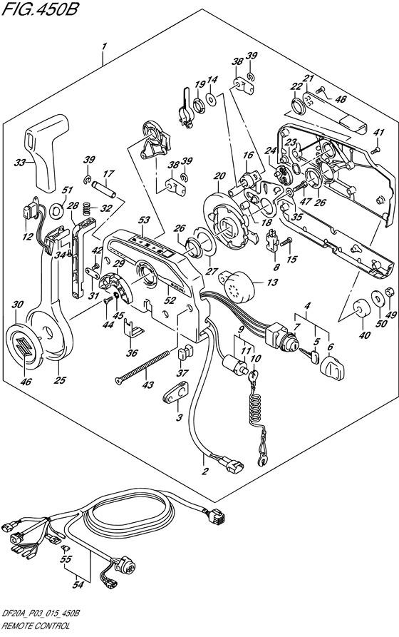 Машинка Газ / Реверс DF9.9BТ, Год: от 2013 - до 2015; Двигатель от: 00995F-310001~ до 00995F-510001~ / (4-х тактный; Мощность 9.9)