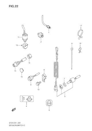 Каталог запчастей для лодочных моторов Suzuki DF25 / DF25R / DF25Q / DF25T - V-Twin - (S/L) – Год: 2006 - 20**;  Моторы от: S/№ 02502F-680001~ до 02502F-***001~