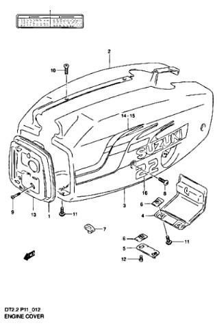 Каталог запчастей для лодочных моторов Suzuki DT2.2 – (S) - 1997 год