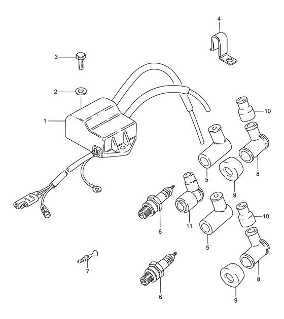 Каталог запчастей для лодочных моторов Suzuki DT9.9 / DT15 (S); Год: 2000; (Регион: Е40; P01)
